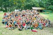 Bild: 1. Freizeit, alle Kinder und Helfer